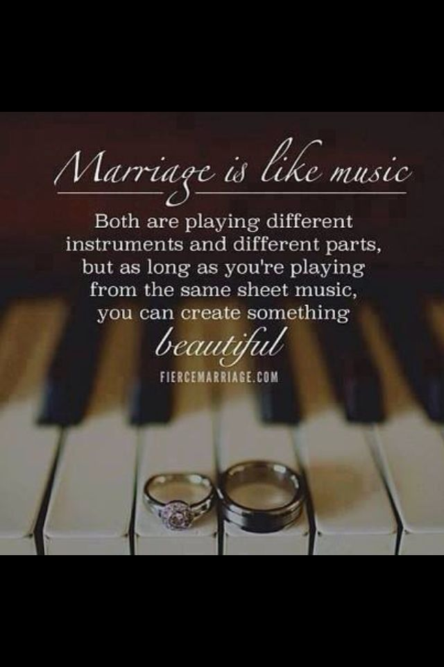 Marriage Is Like Music