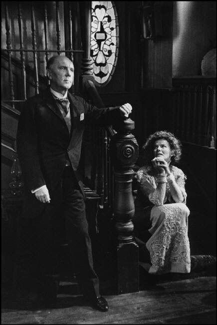 Ralph Richardson & Kate Hepburn on set of Long Day's Journey into Night, 1962, Sidney Lumet. By Dennis Stock.