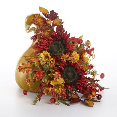 Gourd Pumpkin Arrangement Gourd Pumpkin Sunflower Picks