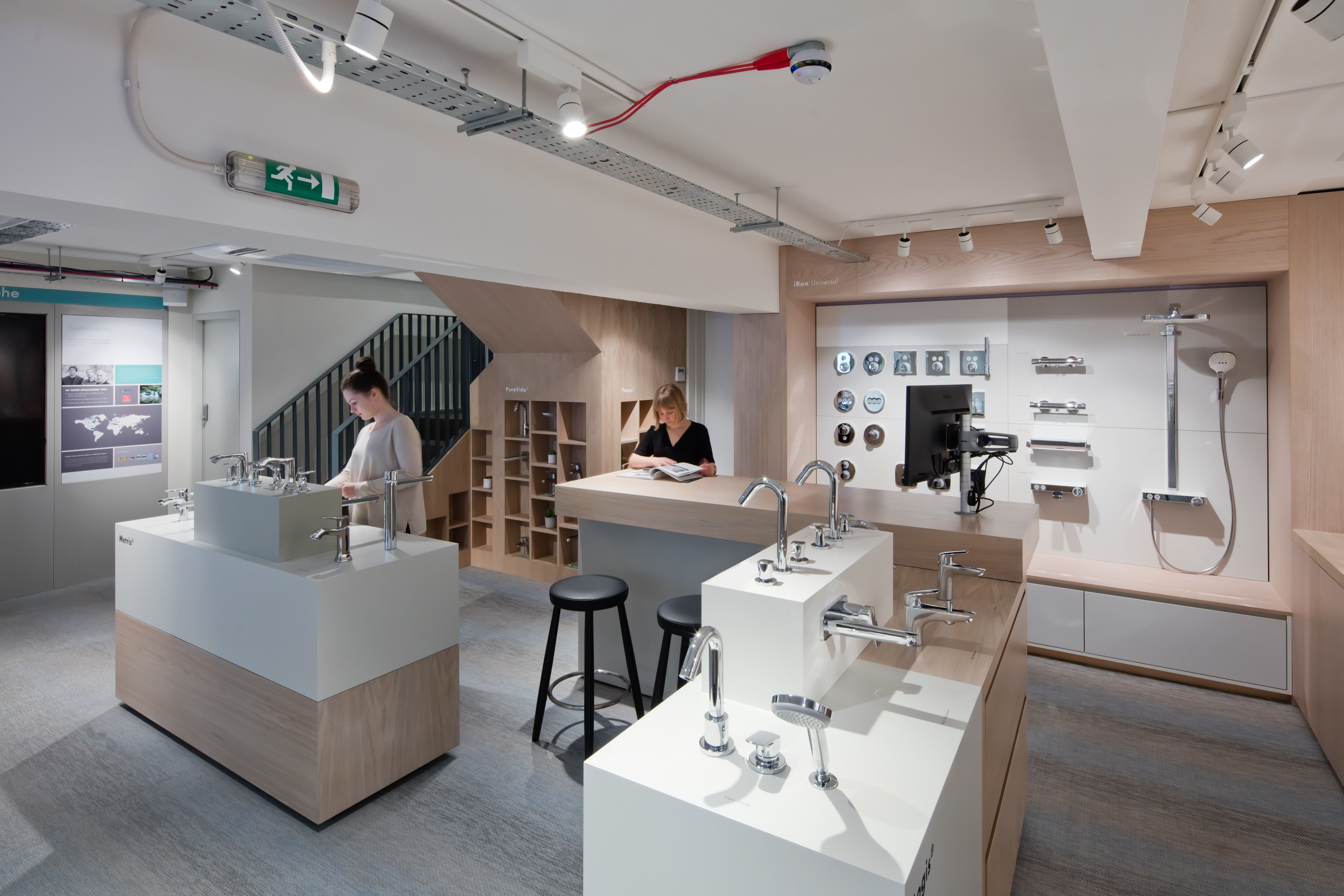 A commercial showroom project for HansGrohe\'s Clerkenwell London ...