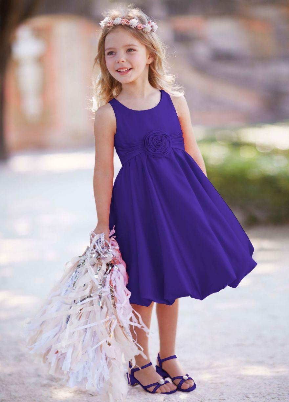 Regency purple flower girl dress   Audra\'s wedding   Pinterest