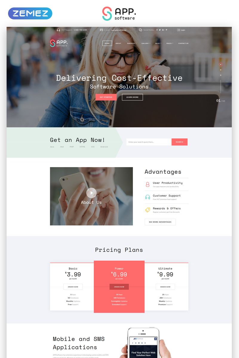Sapp Software Cool App Developing Complany Multipage Html Website Template Website App Dev Html Website Templates Website Design Wordpress Web Design Tips