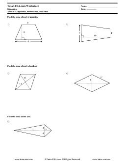 Pdf Geometry Trapezoids Kites Rhombuses Projects To Try