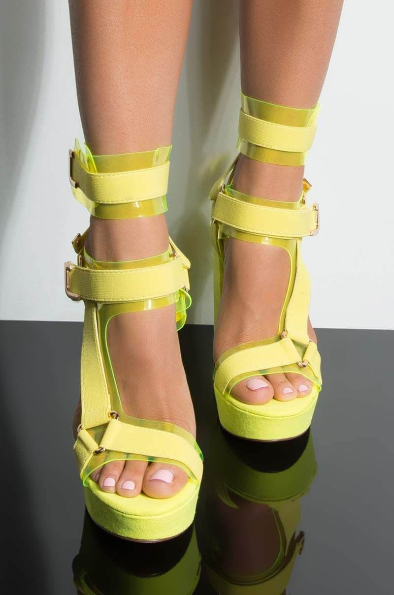 8ce24a6dc DONT PANIC PLATFORM CHUNKY HEELED SANDAL in 2019 | Products | Neon ...