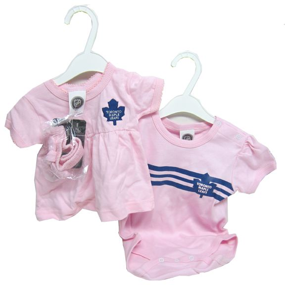 Team Sports Nhl Toronto Maple Leafs Bodysuit Romper Jumpsuit Outfits 3 Piece Set Newborn Boys' Clothing (newborn-5t)
