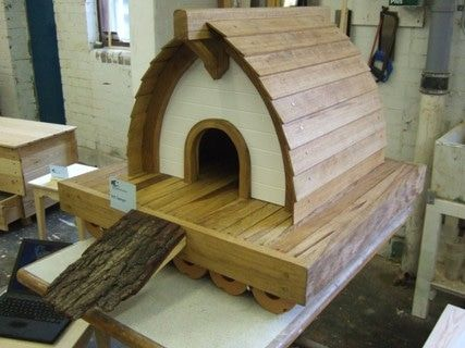 Floating duck house by Anthony Sawyer Boat Building Academy