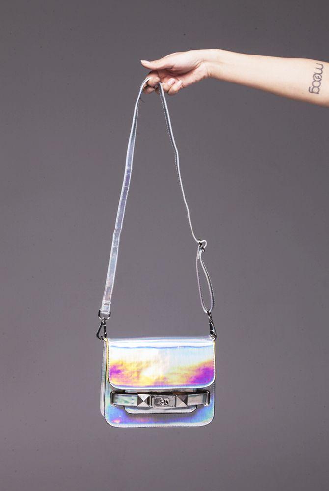 Silver Hologram Crossbody Bag Bags Crossbody Bag Gorgeous Bags