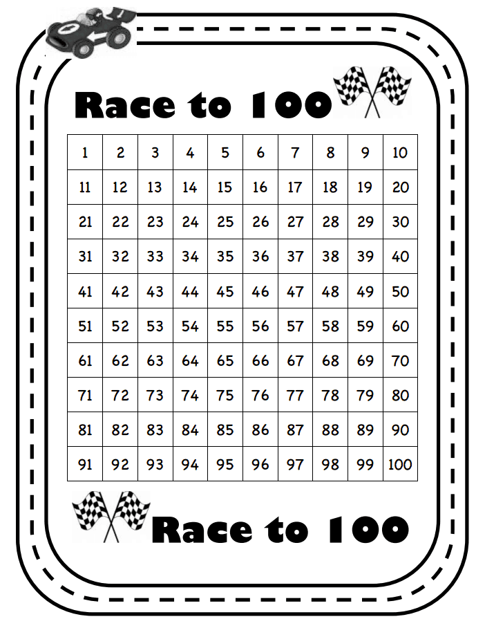 Race To 100 Pdf Google Drive Math Games For Kids Summer School Math Education Math