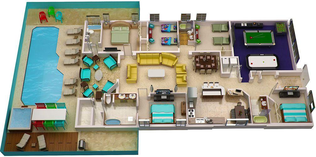 orlando-vacation-home-floorplan   planos de casas con piscina