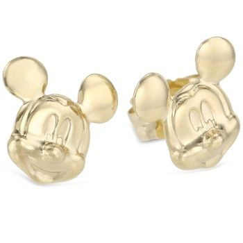 fd65320ad Disney Mickey Mouse 14K Yellow Gold Stud Earrings...considering gold prices  r what