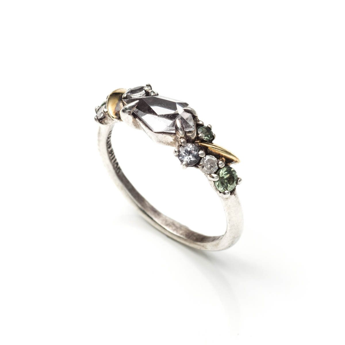 alexis bittar: silver gaze marquis large cluster band with ...