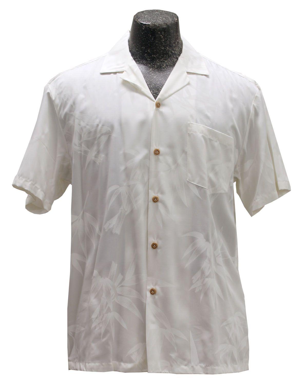 d81f20fb Bamboo Garden White Hawaiian Wedding Shirt | Hawaii | White hawaiian ...