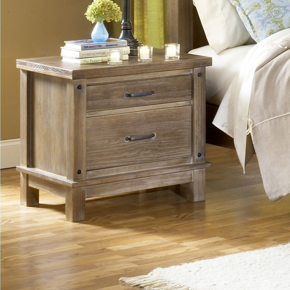 Leadville 2 Drawer Night Stand Nightstand 2 Drawer Nightstand Wildon Home