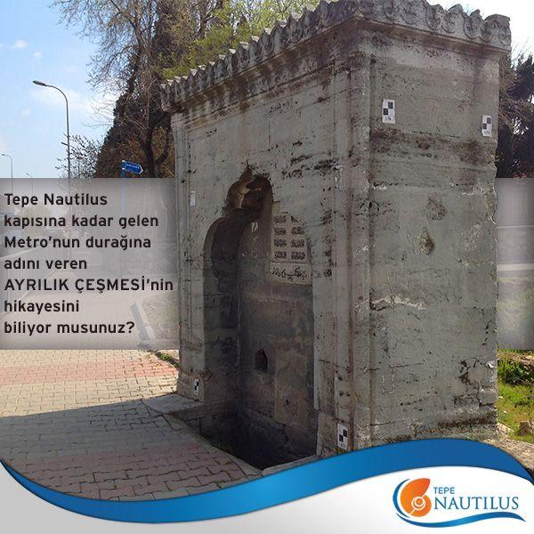 Tepe Nautilus kapısına kadar gelen Metro'nun durağına adını veren Ayrılık Çeşmesi'nin hikayesini biliyor musunuz?   İşte hikayesi;  Osmanlı padişahlarından 4.Murad tarafından 1600 yılında yaptırılan Ayrılık Çeşmesi; Osmanlı padişahları'nın ordusuyla Anadolu seferine çıkarken, hacı adaylarının ise Bağdat'a hareket ederken ayrıldığı nokta olarak biliniyor. 1638'de Bağdat'a sefere çıkan 4. Murad, yaptırdığı çeşmeye Ayrılık Çeşmesi adını verir. Bu çeşmeden giden yolun uzantısı da Bağdat…