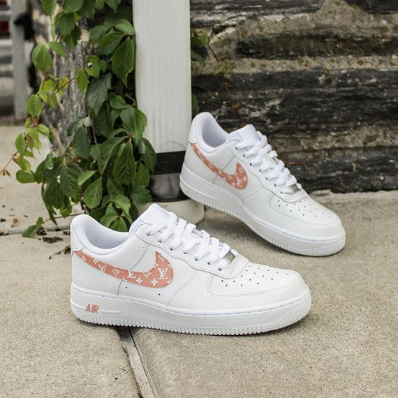 ab91db0458e45 NEW Women s Nike Air Force 1 Louis Vuitton Monogram Sneakers