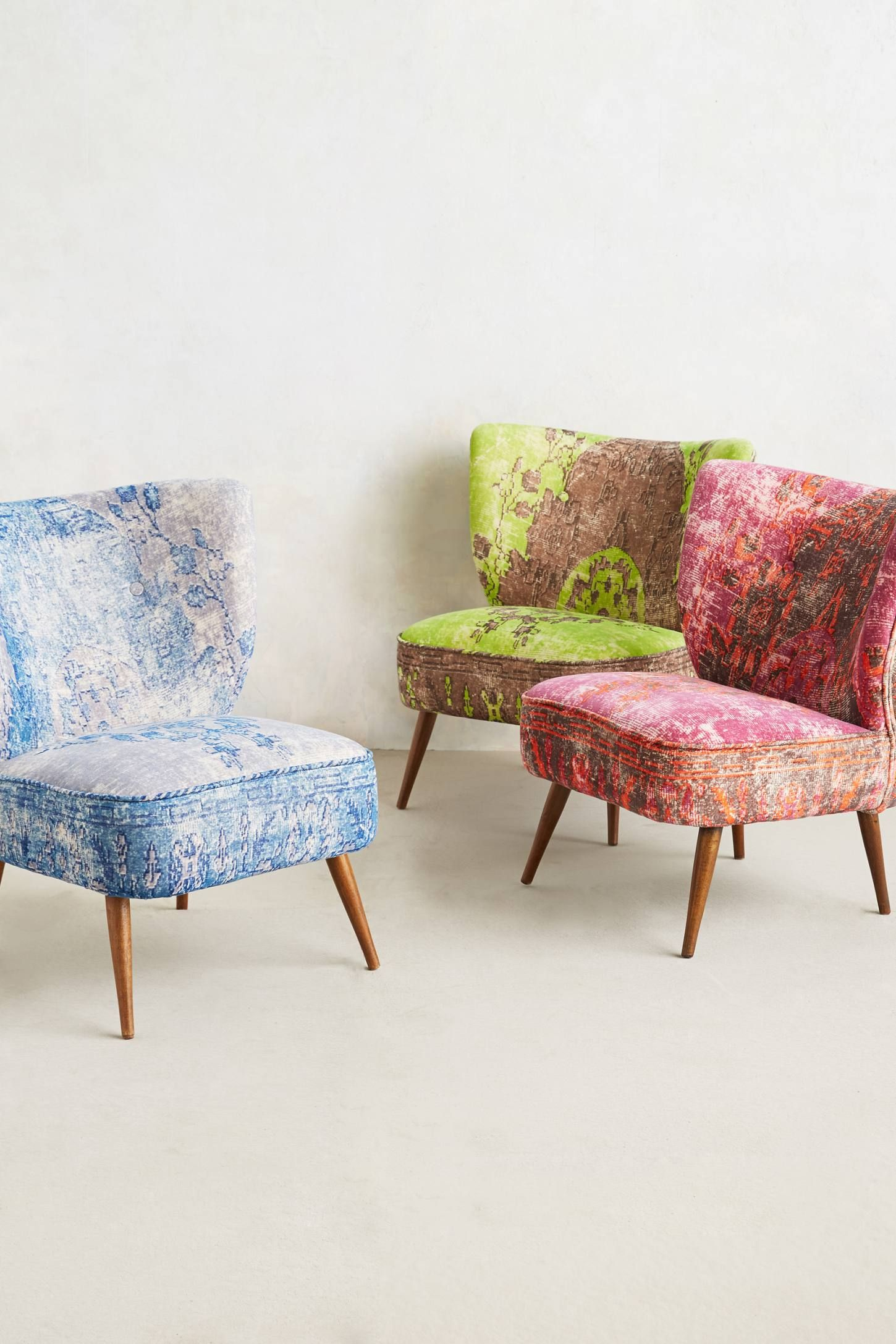 Colorful chairs for living room - Dhurrie Occasional Chair