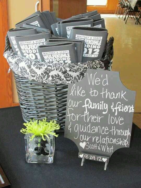 9.29.12 Guest Book Table Personalized chalkboard Thank You ...