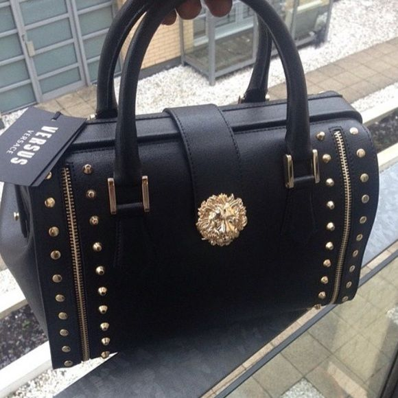 b9b63d5e270a  SOLD On tradesy‼ NWOT Authentic versace bag Black leather versus - versace  bag
