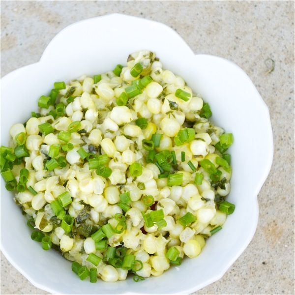 fried sweet corn with basil (plus info on how to avoid genetically modified (gmo) corn)