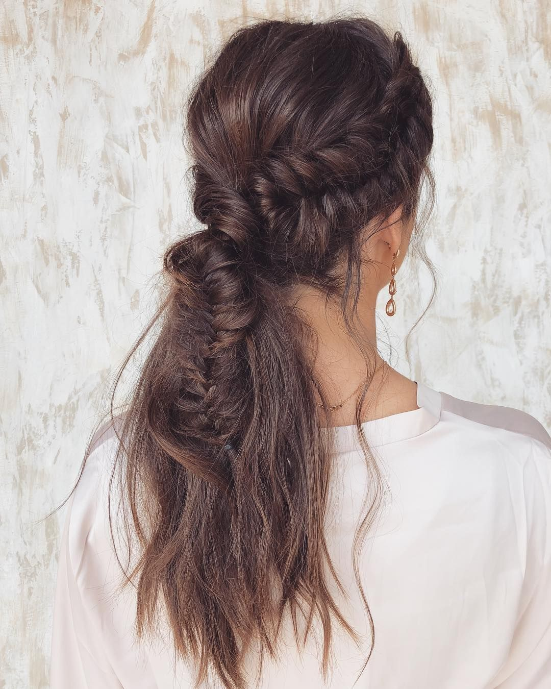 beautiful boho braids ponytail hairstyles for a romantic