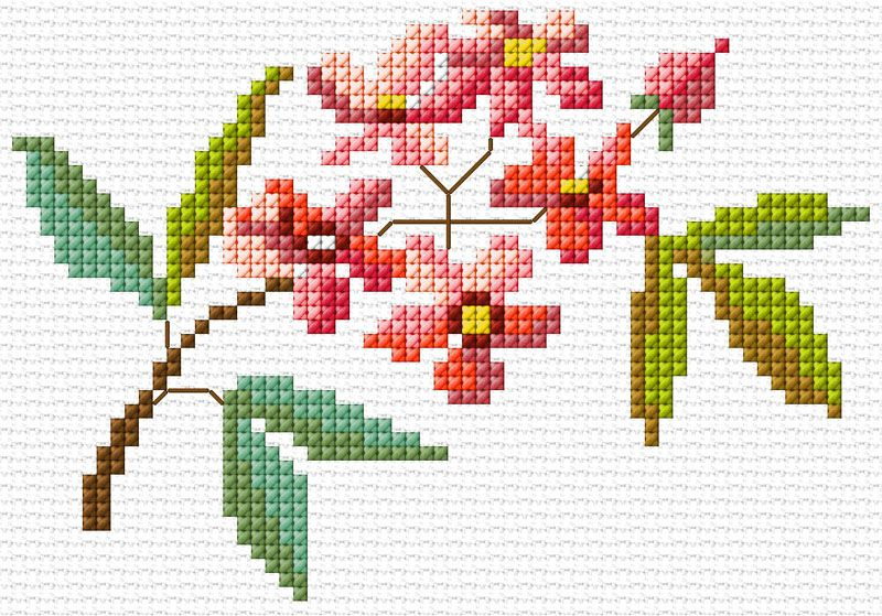 Flower   Cross Stitchery   Simple cross stitch, Easy cross