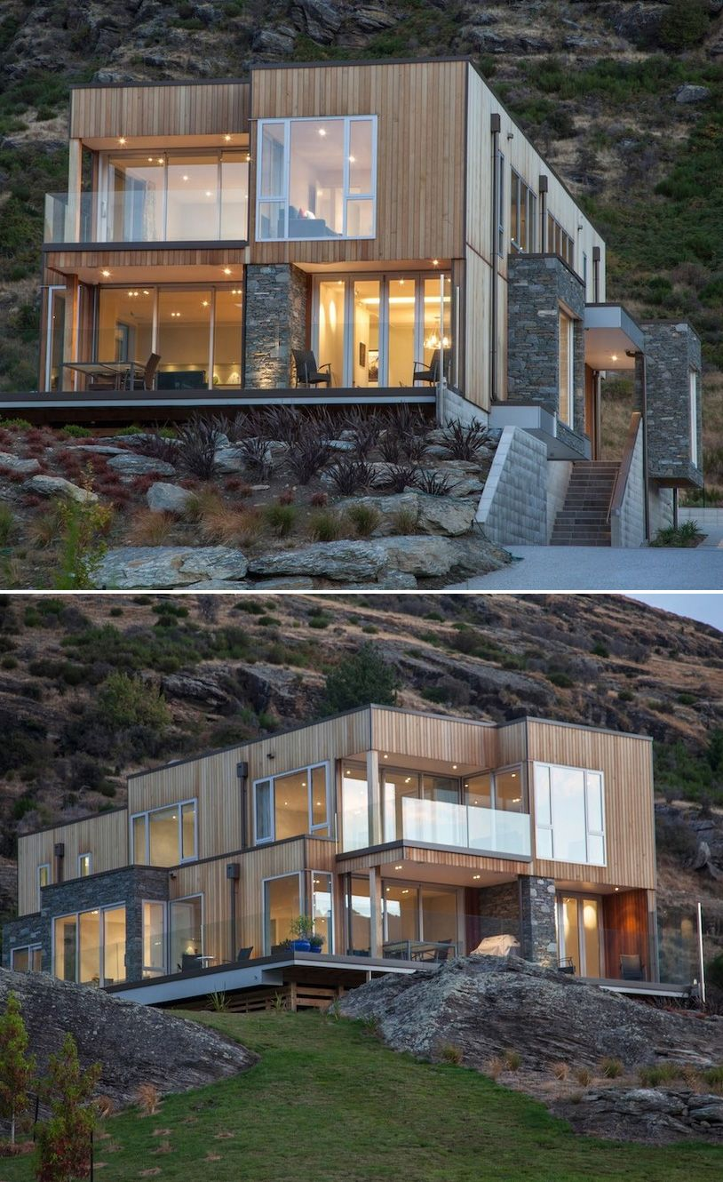 Beautiful. Love how the home blends into the rocks and scenery ...