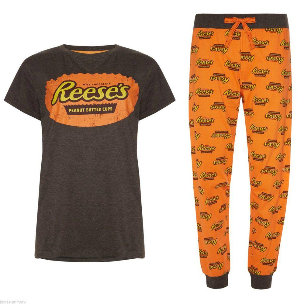 4a0c0ce520 PRIMARK LADIES HERSHEY S REESE S PEANUT BUTTER CUP PYJAMAS SET  Primark   PyjamaSetOrSeparates  Everyday