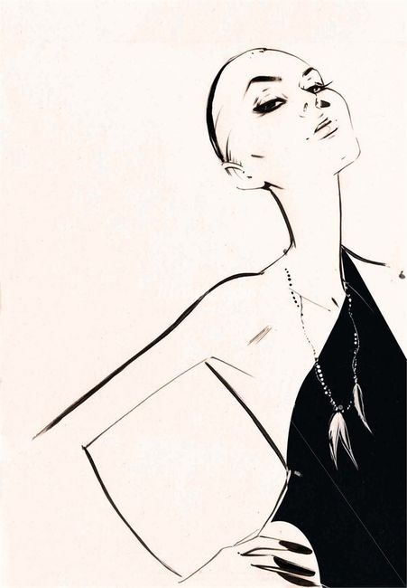 Nuno Da Costa, Contemporary Fashion and Beauty Illustrator (nuno dacosta,girl,sketch)