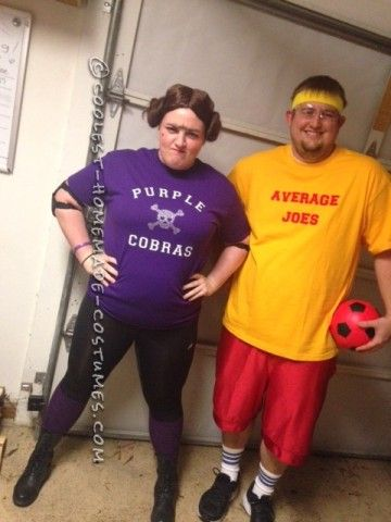 Hilarious Easy Dodgeball Couple Costumes!  sc 1 st  Pinterest & Hilarious Easy Dodgeball Couple Costumes! | Hilarious Costumes and ...