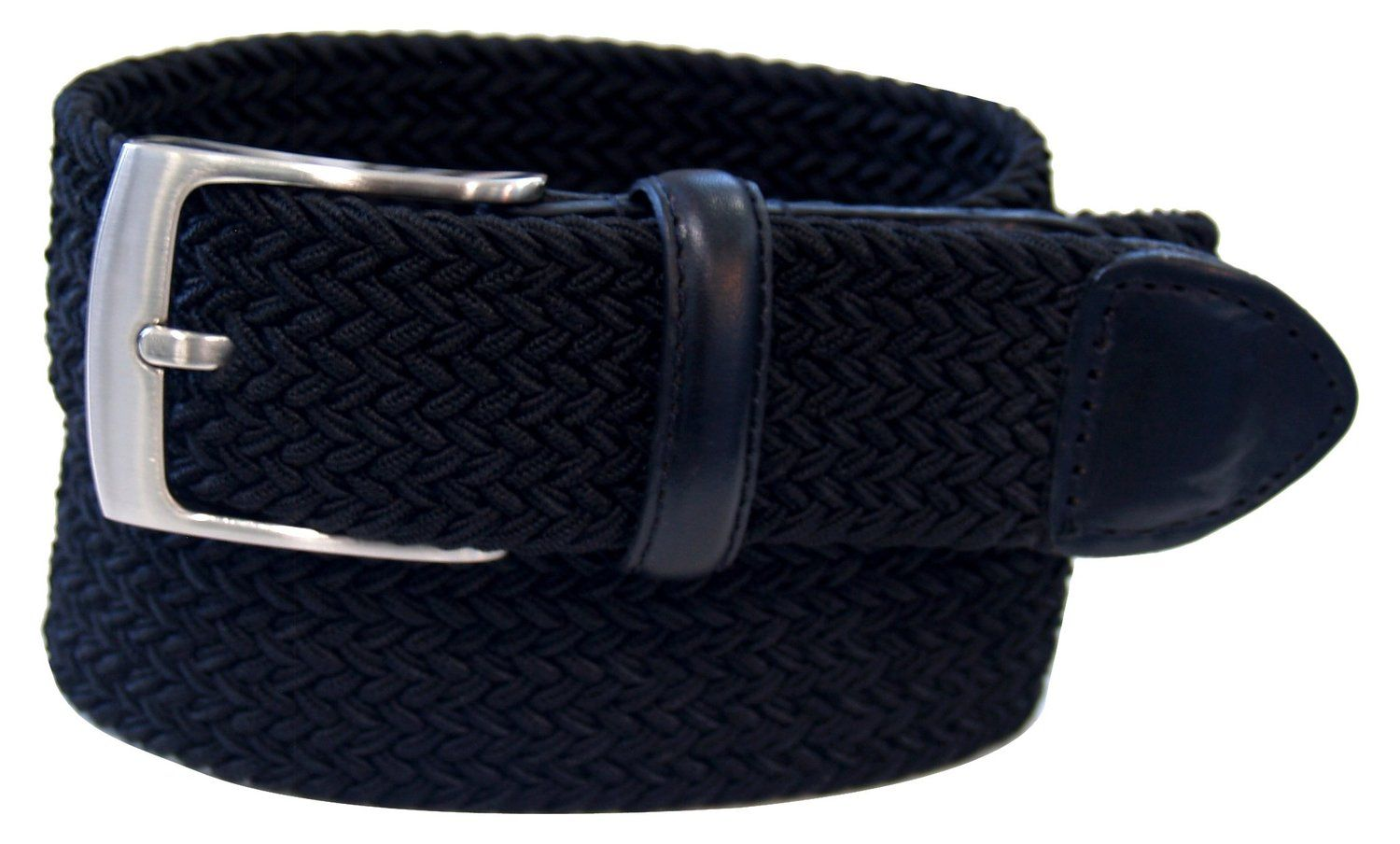 Dockers Men S Stretch Woven Canvas Belt Black 32 At