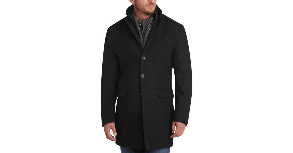 87e5cdcf50aa Buy a Egara Charcoal Slim Fit Topcoat online at Men's Wearhouse. See the  latest styles