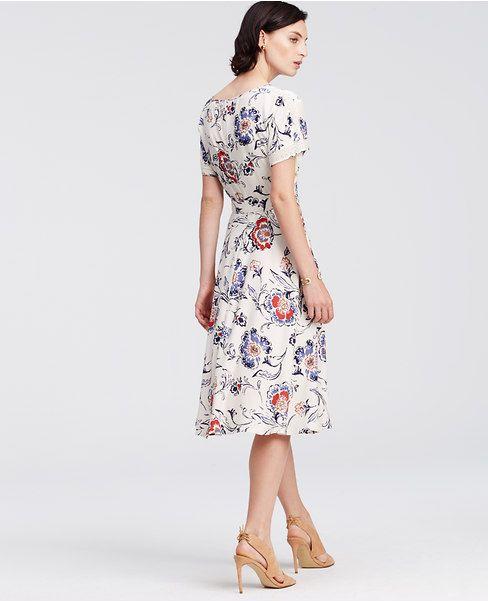 4ef5221a59b Ann Taylor s Floral Lace Trim Midi Dress.