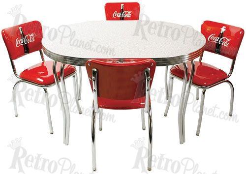 coca cola table love this retro set coca cola bottling works