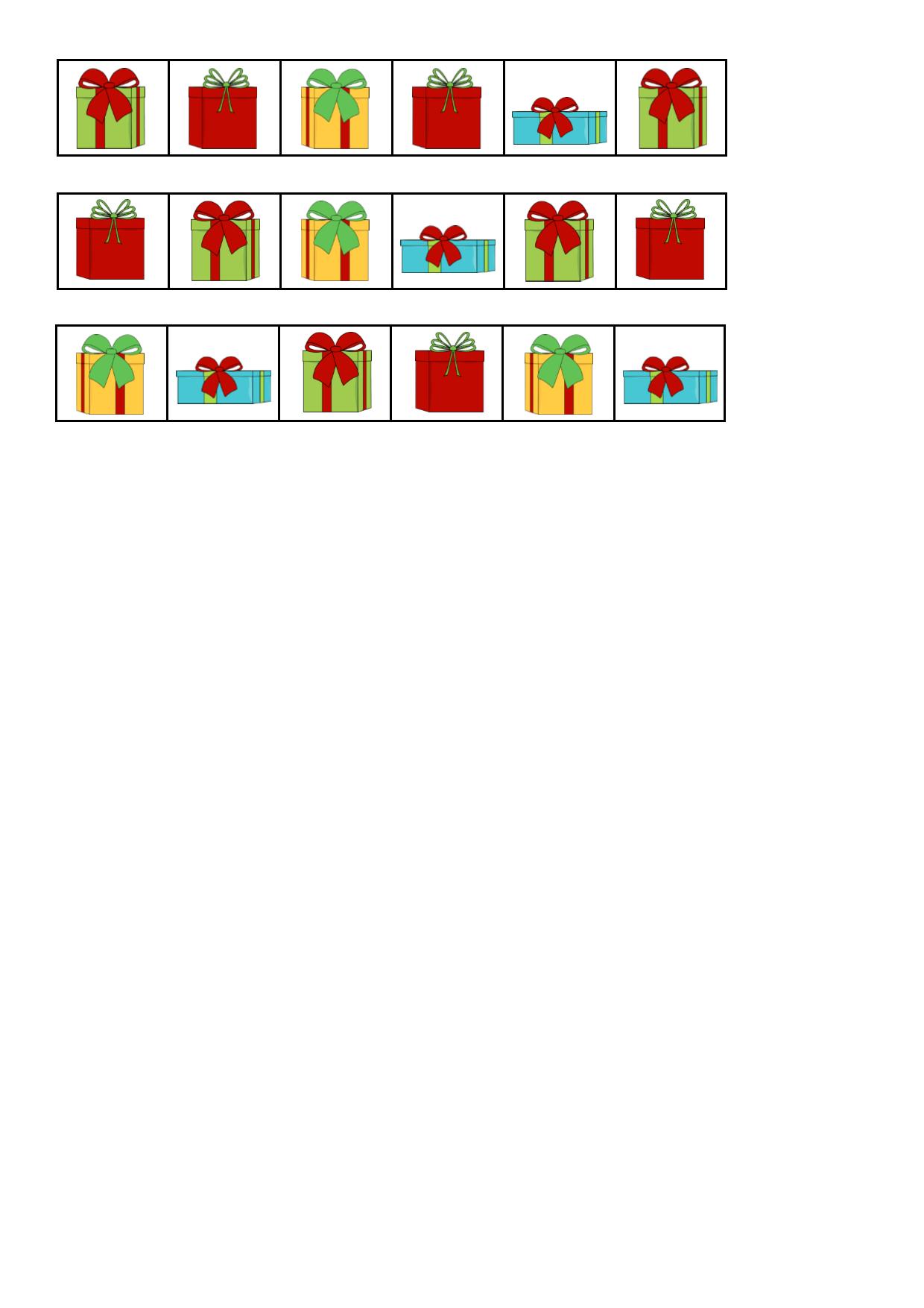 Tiles For The Christmas Present Visual Perception Game