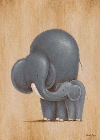 Oopsy Daisy Canvas Wall Art Safari Kisses Elephant by Sarah Lowe, available at #polkadotpeacock. #peacocklove #oopsydaisyart