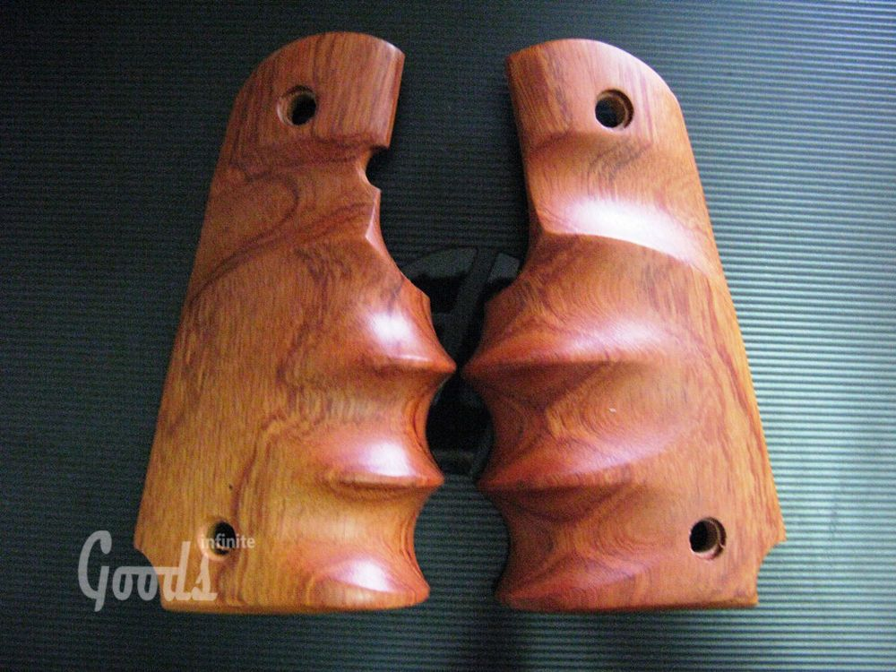 NEW GORGEOUS WOODEN GRIP FOR COLT 1911 FULL SIZE KIMBER CLONES SMOOTH WRAP ROUND
