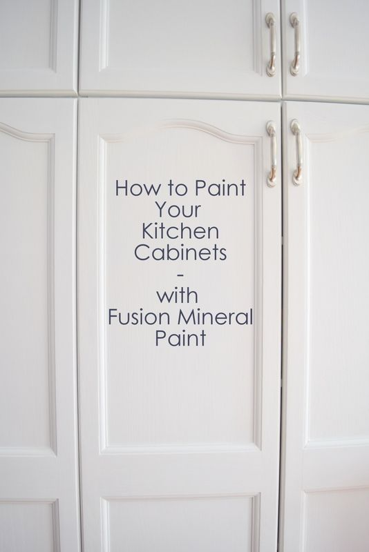 How To Paint Your Kitchen Cabinets Using Fusion Mineral