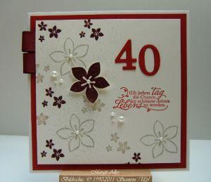 40 geburtstag 4 basteln stampin up pinterest 40er. Black Bedroom Furniture Sets. Home Design Ideas