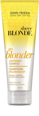 Keep Your Blonde Bright  John Frieda Sheer Blonde Go Blonder Conditioner, $9. I'm definitely trying this!