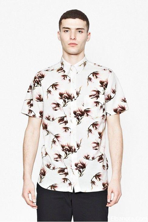 قمصان رجالى نصف كم قمصان رجالى مشجرة قمصان رجالى كاجول 2014 Fashion Mens Tops Men Casual