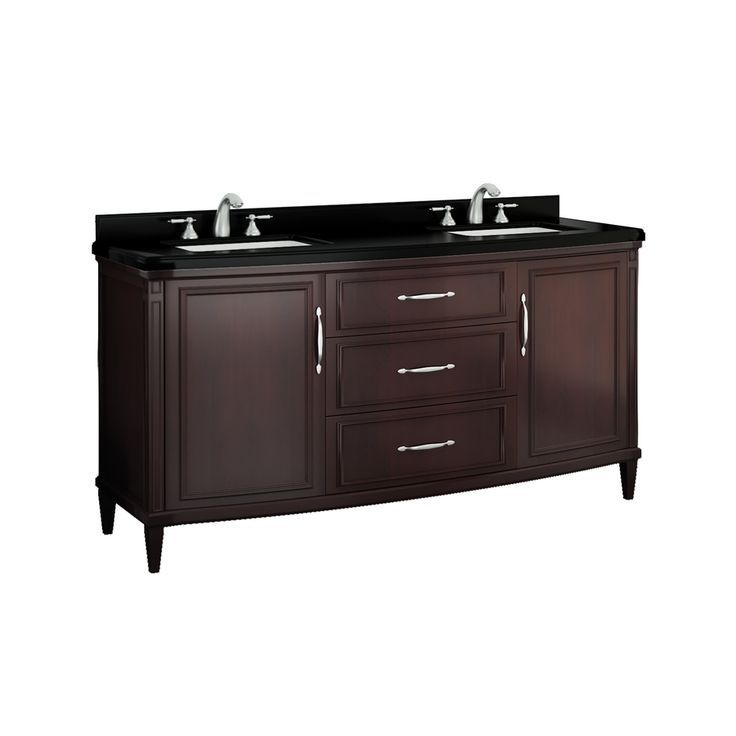 60 double sink vanity with granite top. Shop OVE Decors Rose Cocoa Undermount Double Sink Birch Bathroom Vanity  with Granite Top Common x Actual lowes bathroom double vanity