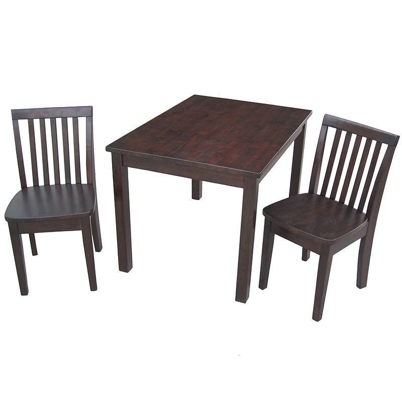 Swell 3 Pc Juvenile Table Set 3 Pc Kids Table Chairs Painted Gmtry Best Dining Table And Chair Ideas Images Gmtryco