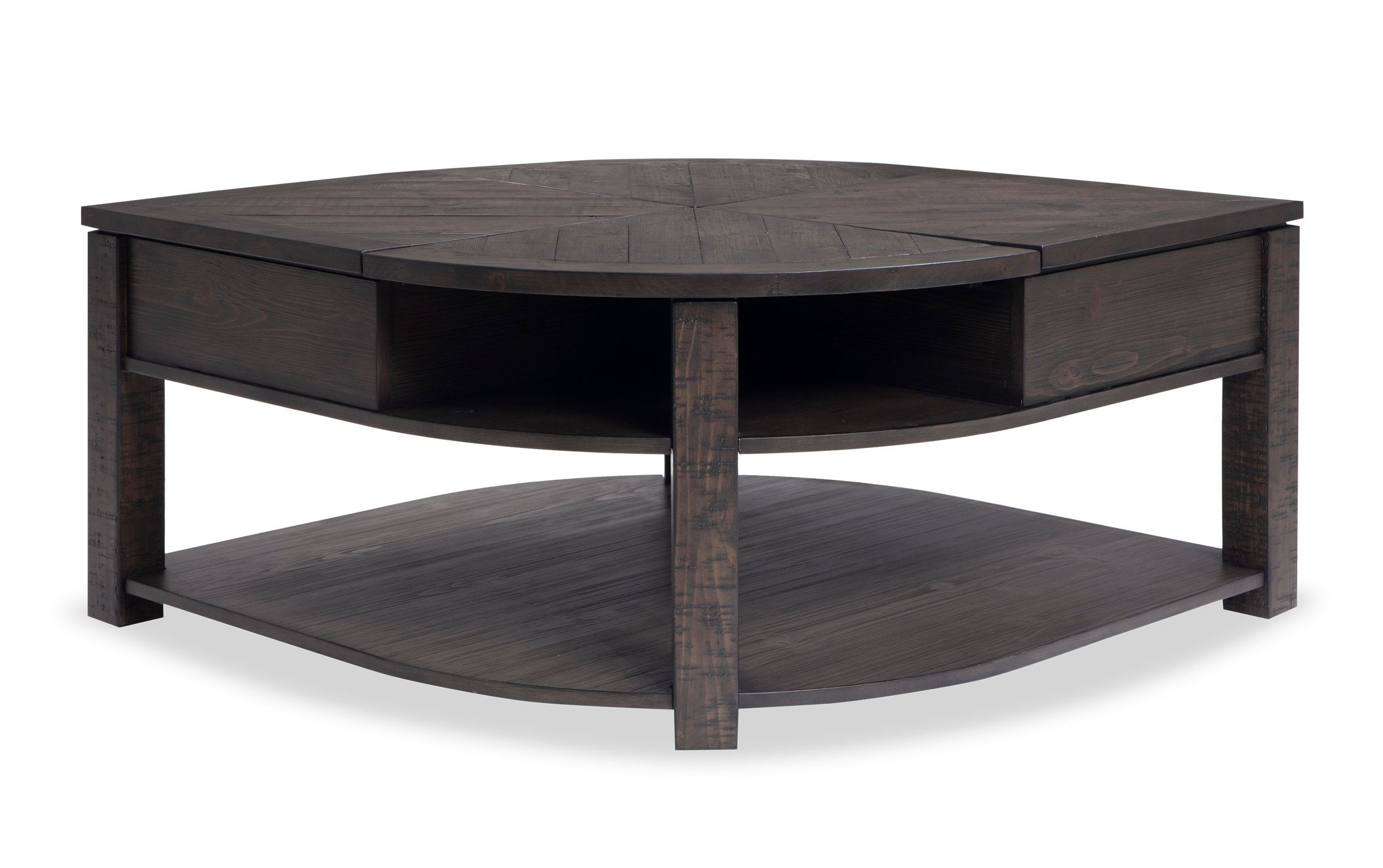 Extreme Lift Top Wedge Coffee Table Coffee Table Round Coffee Table Living Room Round Wood Coffee Table [ 1467 x 2336 Pixel ]