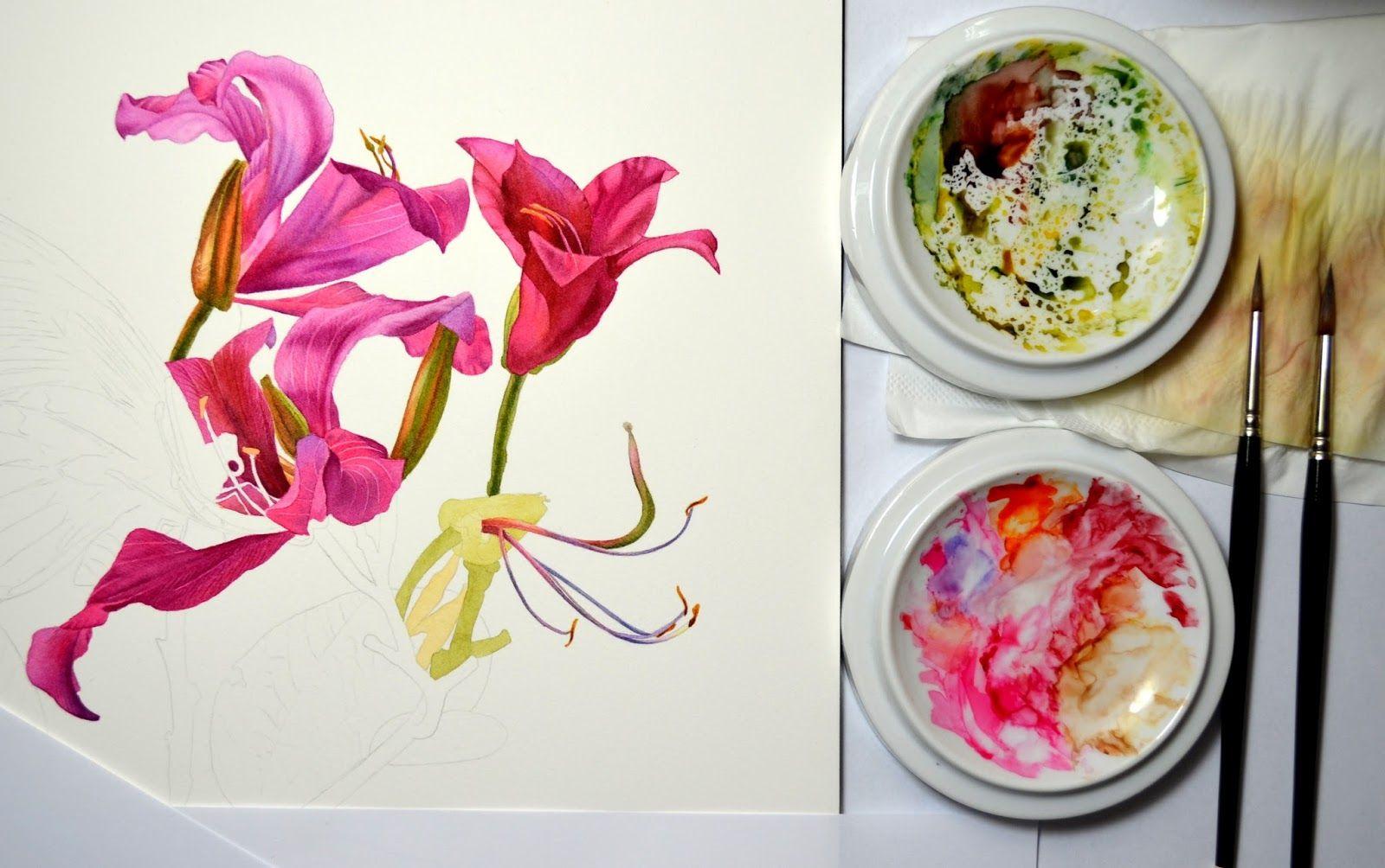Botanical and Nature Art by Krzysztof Kowalski: Orchid Tree. Slow progress