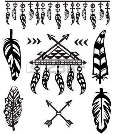 Piume tribali ed elementi decorativi photo