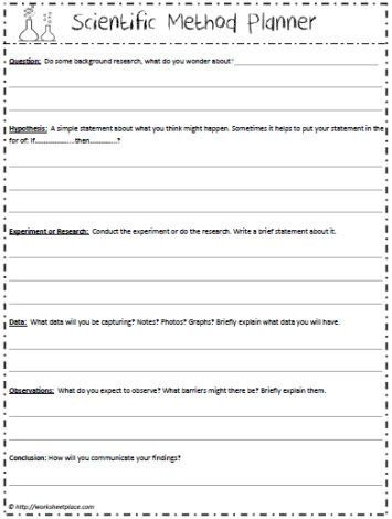 Scientific Method Planner Scientific Method Worksheet Scientific Method Scientific Method Worksheet Free Scientific method grade worksheets