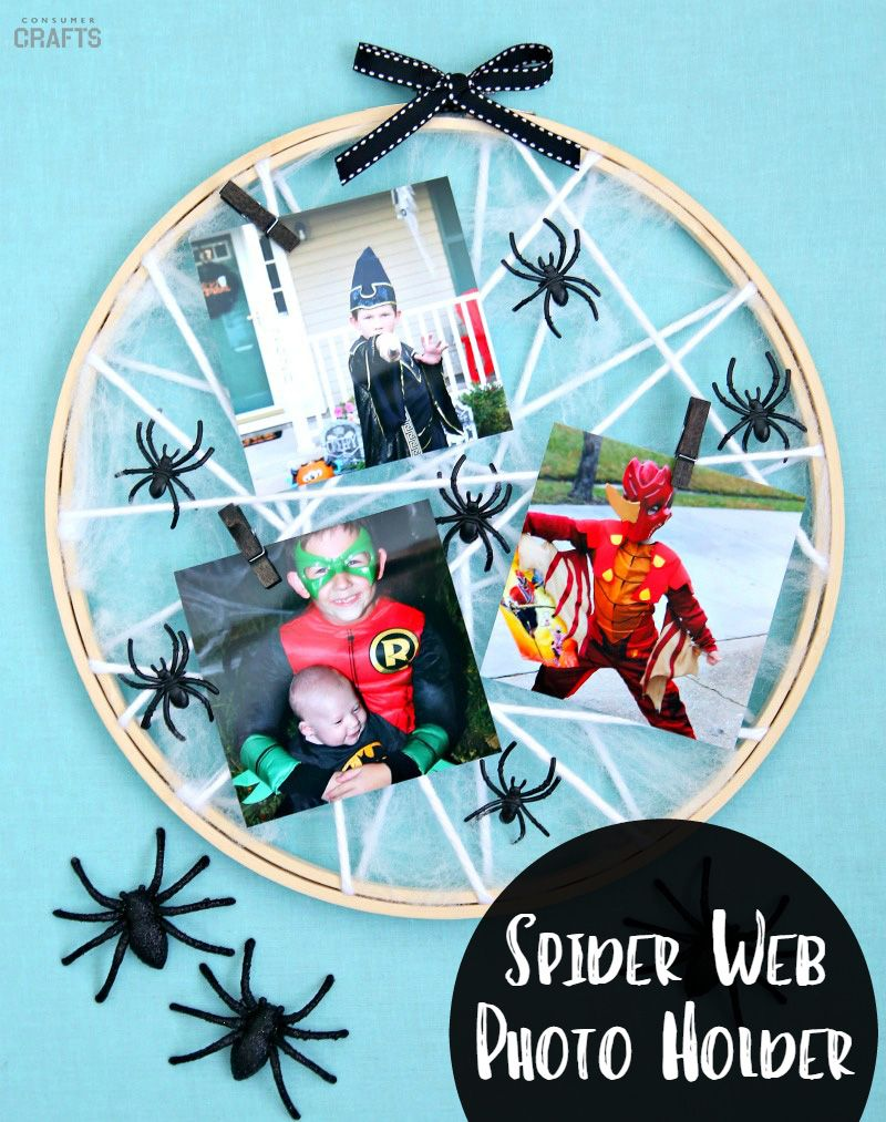 Creepy Crawly Spider Web Photo Holder Savememories Decorations Crafts