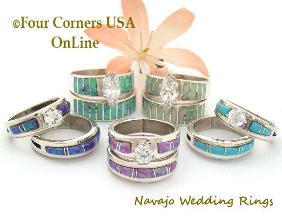 bridal engagement wedding ring sets native american jewelry - Native American Wedding Rings