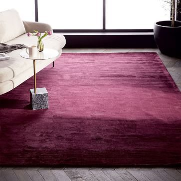 Colorfield Rug, Wine, 6\'x9\' | Living rooms, Coastal and Apartment ...