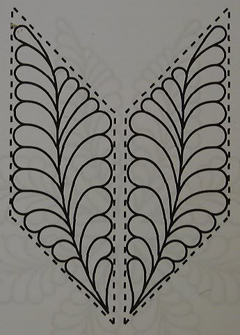 Parallelogram, Quilting Feather filler pattern. Love these !